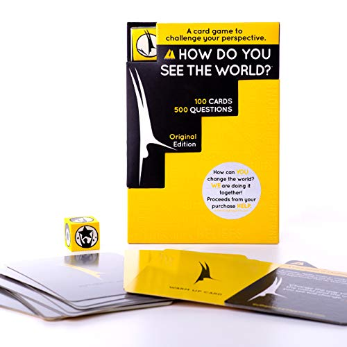 How Do You See The World? 500-Question Card Game for Adults, Teens, and Kids - Game Night Conversation Starters and Ice Breakers - Includes Dice and 100 Cards with 500 Questions
