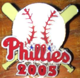 PHILADELPHIA PHILLIES 2005 Hat Lapel Pin MLB Baseball in new condition ()