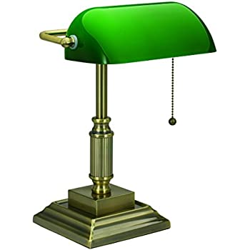 Amazon v light traditional style cfl bankers desk lamp with v light traditional style cfl bankers desk lamp with green glass shade vs688029ab aloadofball