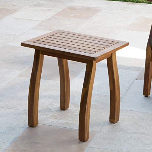 Great Deal Furniture Sadie Outdoor Accent Side Table | Acacia Wood