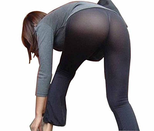 7c71af7ca914f xhorizon TM NZ13 Women Long Semi See Through Sheer Pants Leggings Lingerie  Flare at Amazon Women's Clothing store: