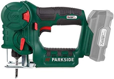 Sierra de calar y sierra alternativa inalámbrica PARKSIDE® PSSA 20-Li A1 X20V (sin batería ni cargador, en un estuche de transporte)