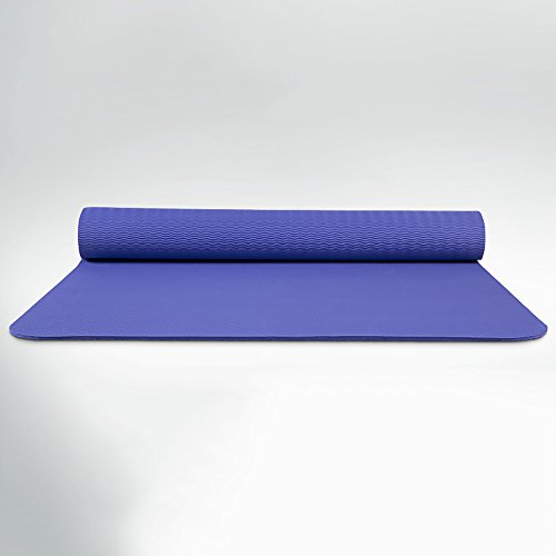 Tapis de yoga antidérapant antidérapant de Tapis de yoga / TPE / plus épais épais tapis de yoga en plein air / 183 * 80CM ( Couleur : Violet , taille : Thickness8MM )