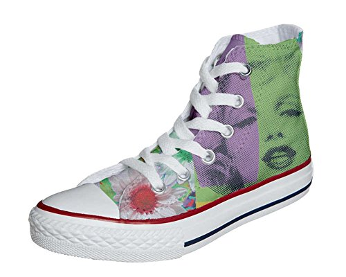 Converse Custom All Star Sneaker Unisexe (chaussure À La Main) Marylin Face
