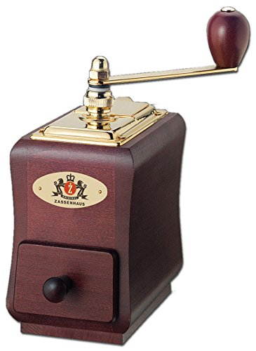 Zassenhaus ''Santiago'' Mahogany Beech Wood Manual Coffee Mill by Zassenhaus