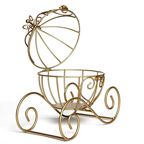 BalsaCircle Gold Cinderella Carriage with Candle Holder Wedding Party Centerpieces Home Decorations Wholesale -