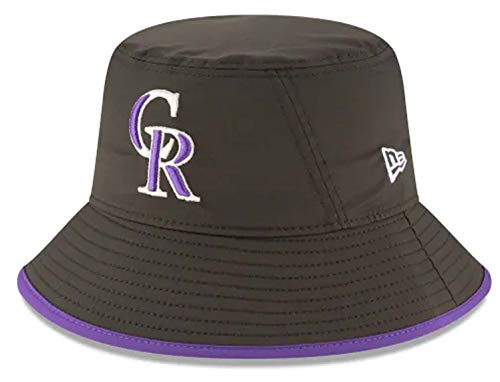 New Era Authentic MLB 2019 Clubhouse Collection Bucket Hat Stretch Fit : One Size Fit Most (Colorado Rockies)