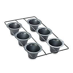 Chicago Metallic Professional 6-Cup Popover Pan with Armor-Glide Coating