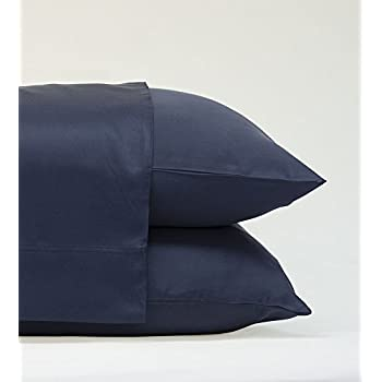 Classic Bamboo Pillow Cases by Cariloha - 2 Piece Pillowcase Set - Softest Pillow Cases - 100% Viscose from Bamboo (Standard, Bahama Blue)