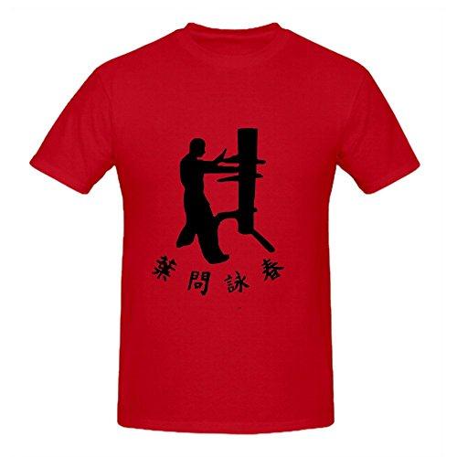 (Perfectga Traditional Wing Chun Ip Man Custom Men O Neck T-shirts Red)