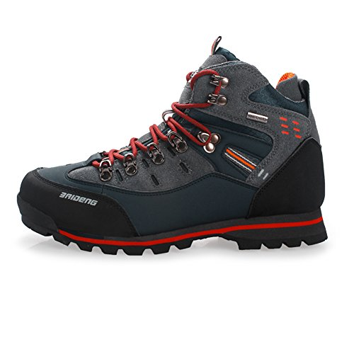 GOMNEAR Men's Hiking Boots High Top Trekking Shoes Non Slip Breathable Walking Climbing Sneaker GB O-41