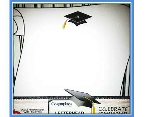 Cap and Scroll 2013-Graduation Letterhead-25 Sheets* 48 Graduate Seals**Package of Two (2) Items (Graduate Seals)