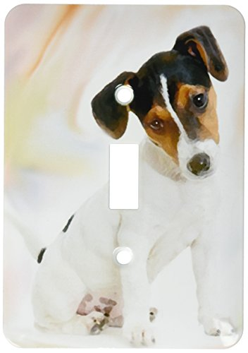 3dRose lsp_4236_1 Jack Russell Terrier Single Toggle Switch ()