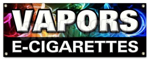 VAPORS E-CIGARETTES BANNER SIGN pipe e-liquid flavor concentrates nicotine