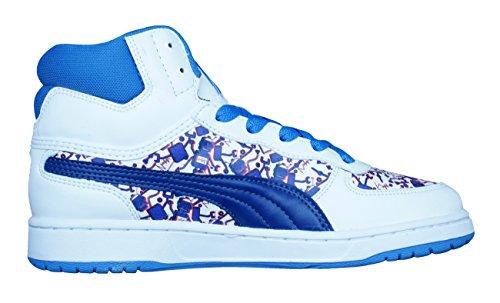 Puma Contest Hi 3Dim muchachos de los zapatos corrientes / Hi Tops White