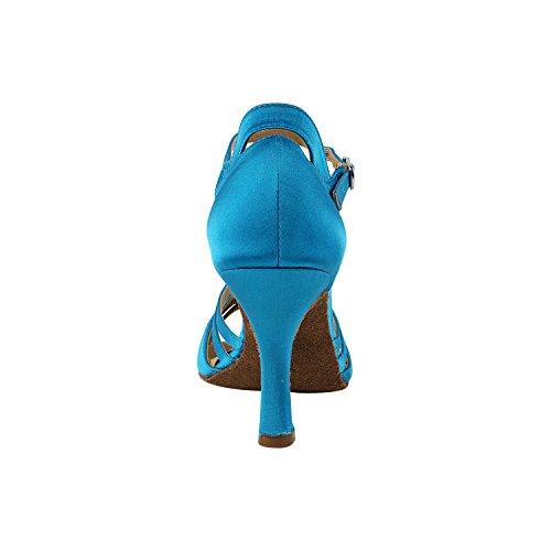 Scarpe Piccione Oro Scarpe Da Festa Partito Festaioli, Pompe Comfort Abito Da Sera: Scarpe Da Ballo Tacco Alto Da Donna 1154- Raso Blu