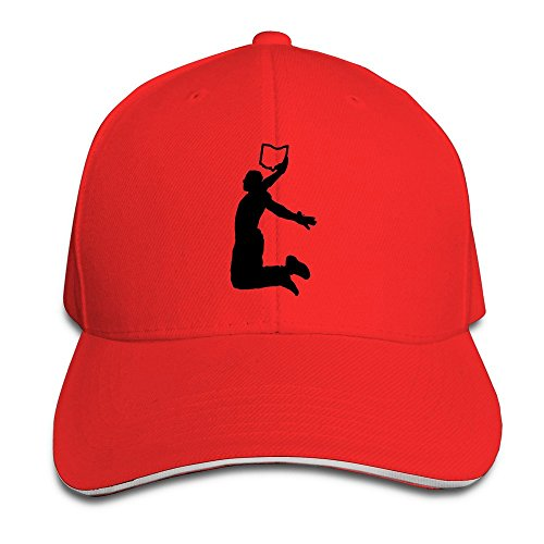 King Dunk Cleveland Map Red Adjustable Baseball Caps Unisex Sandwich Hats (Hat Last King Red)