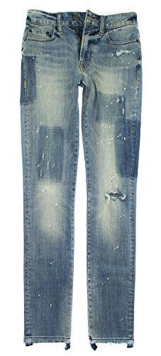 American Eagle Men's 360 Extreme Flex Slim Jean 4142 (Indigo Rust Destroy) (33x32)