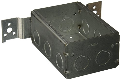 Hubbell-Raco 686 2-1/2-Inch Deep 3 Gang Switch Box, Welded with 1/2-Inch Setback Side Bracket and (10) Concentric - Setback Bracket