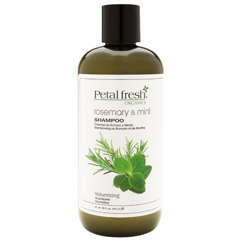 Petal Fresh Organic Shampoo, Rosemary and Mint, 16 Fluid Ounce