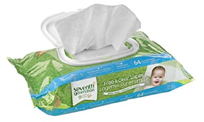 Seventh Generation Free and Clear Baby Wipes with Flip Top Dispenser