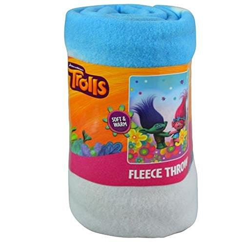 Northwest Fleece Soft Blanket (Dreamworks Trolls Fleece Throw Blanket - Soft, Warm and Comfortable (Forest Hope))