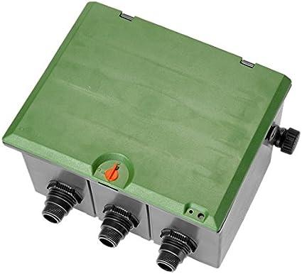 Gardena 1257-20 1257-20-Arqueta pre-montada de 3 vías para Colocar 3 electroválvulas de 9 ó 24 V, Estándar: Amazon.es: Bricolaje y herramientas