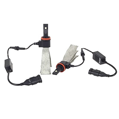 Partsam LED Headlight Conversion Kit - All Bulb Sizes - 5000LM/Pair(2500LM/PC) Genuine Cree XML2 LED - Replaces Halogen & HID Bulbs - H8 / H11