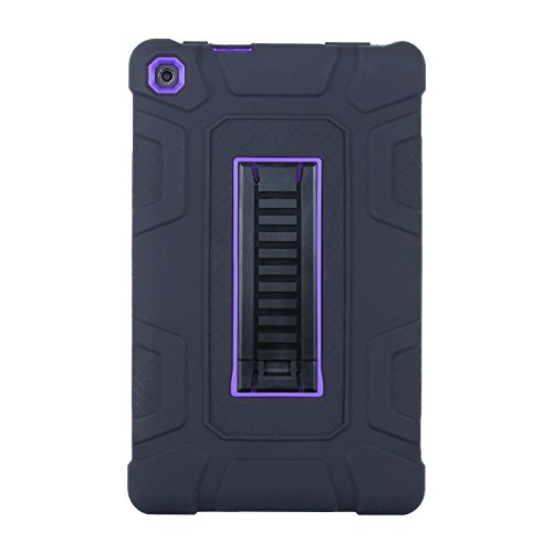 Amazon Fire HD 8 Case (6th Generation, 2016 release),Jeccy 3in1 Full-body Shock Proof Hybrid Heavy Duty Armor Defender Protective Case with Kickstand, Silicone Skin Hard Plastic Case Cover