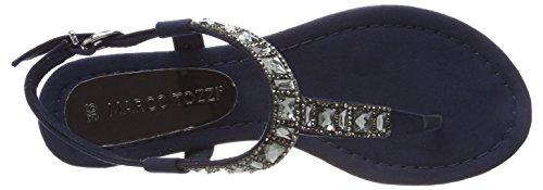 Marco Tozzi 28112, Sandalia con Pulsera Para Mujer Azul (Navy)