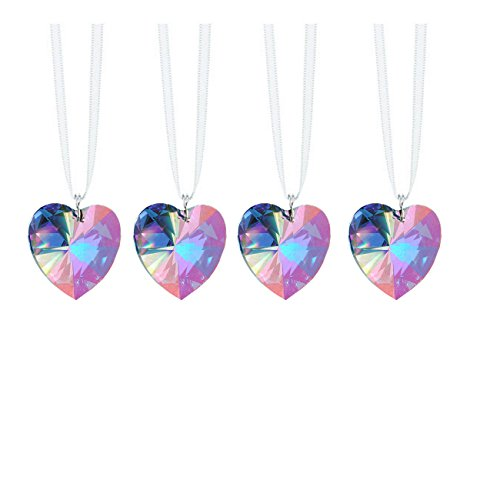 Swarovski Strass Prisms 4 Pcs Crystal Aurora Borealis Heart Prism SunCatcher Rainbow Maker Ornaments Package - Swarovski Suncatcher Prism Crystal