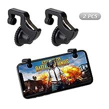 Fortnite PUBG Mobile Game Controller, COCASES Sensitive Shoot and Aim Battle Royale L1R1 Cellphone Game Trigger Joystick for Rules of Survival -2 Triggers Black