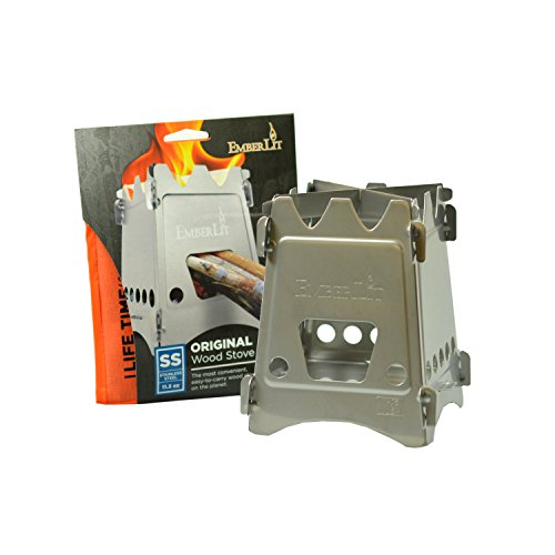 Emberlit Stainless Steel stove,Compact Design Perfect for Survival, Camping, Hunting Emergency Preparation