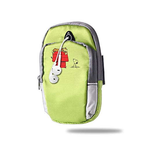 CGHFW Calvin And Hobbes Outdoor Sports Multifunctional Pockets Arm Bag Arm Punch Case Holder For Running Trekking Hiking Cycling Mounting Strolling Armband]()