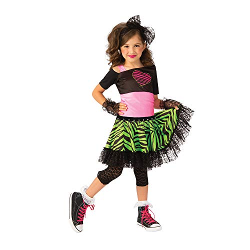 Madonna Halloween Costumes Material Girl (Rubie's Opus Collection Child's 80S Material Girl Costume,)