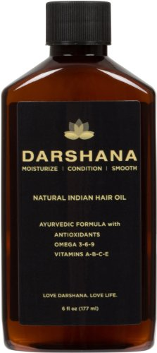 Darshana Natural Indian Hair Oil with Ayurvedic Botanicals (6 fl oz.) (Best Sunflower Oil In India)