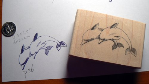 Dolphins rubber stamp WM P36