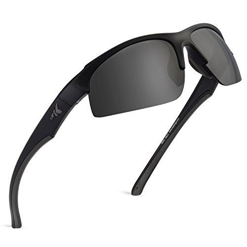 KastKing Cuivre Polarized Sport Sunglasses, Matte Blackout Frame,Smoke ()