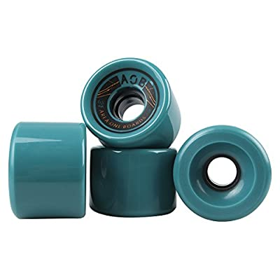 "'LONGBOARD rôle AOB ""Straight 65 mm, 78 A, Orange/Bleu/Noir"