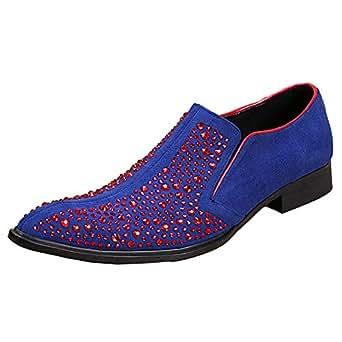 ¥*Shoes Zapatos de los Hombres Mocasines Rhinestone Zapatos Formales de Fiesta de Boda: Amazon.es: Ropa y accesorios