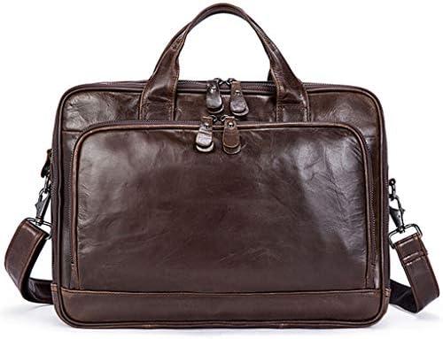 メンズダブルジッパーカジュアルビジネスブリーフケース多機能ハンドバッグメッセンジャーバッグ