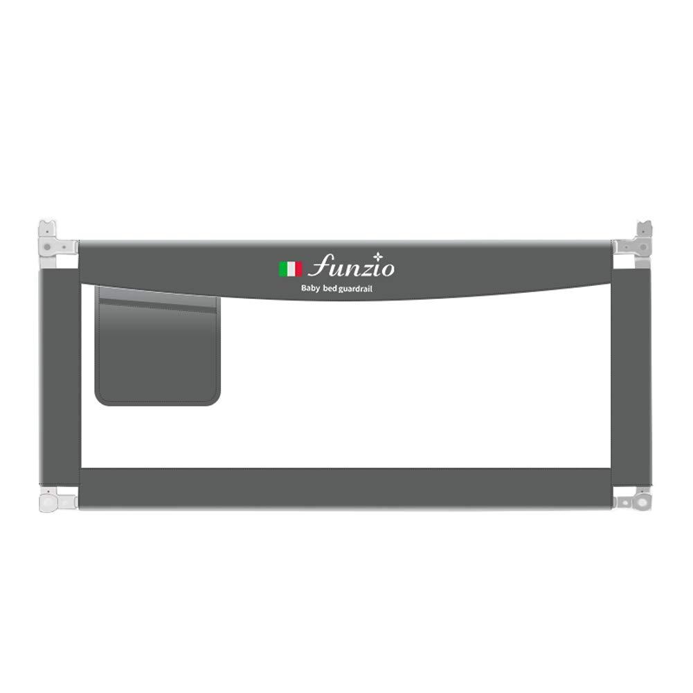 ベッドレール 調節可能なベビーベッドレール安全転倒防止ベビーベッドバンパー、収納バッグ付き縦型リフトベッド手すり、カラーサイズオプション (色 : グレー, サイズ さいず : 1.8m) 1.8m グレー B07MLMXT23