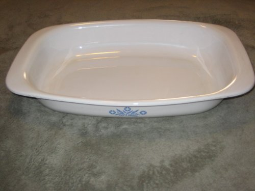 Vintage 1960-1970s Corning Ware  inch Blue Cornflower  inch 13 Inch Roaster / Lasagna Baking Pan Dish P-21