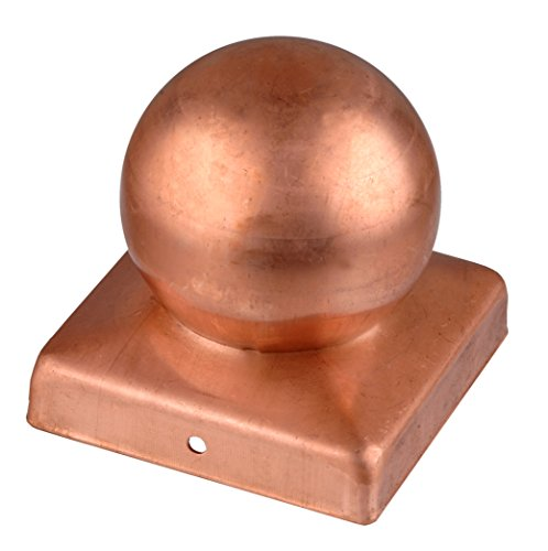 Connex HV4299 90 x 90mm Copper Post Caps with Ball ()