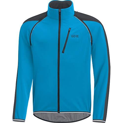 GORE Wear C3 Men's GORE WINDSTOPPER Zip-Off Jacket, L, Blue/Black