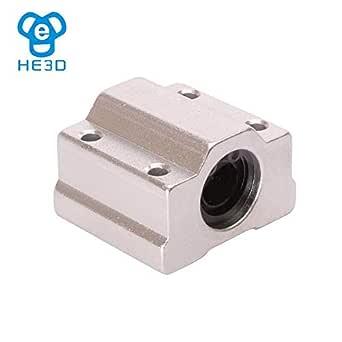 Impresora 3D - 3 piezas HE3D 8 mm SCS8UU bloque de rodamiento de ...