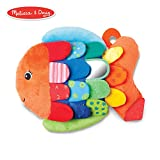 Melissa & Doug Flip Fish Baby Toy (Developmental Toy, Squeaker Tail, Shatterproof Mirror, Washable Fabrics)