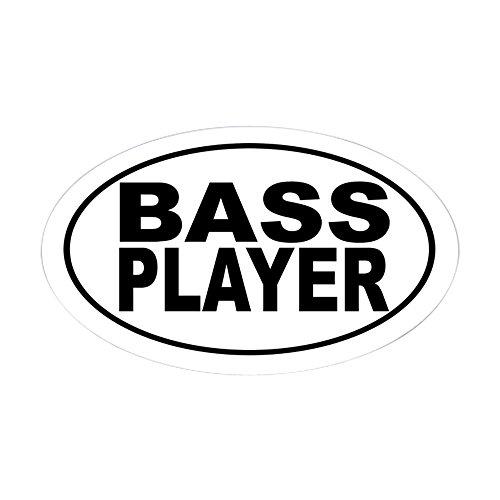 CafePress Bass Player Sticker (Oval) Oval Bumper Sticker, Euro Oval Car Decal