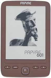 Papyre PE601CH - Lector de eBooks, color marrón: Amazon.es ...