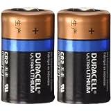 2 Count - Duracell Ultra Lithium CR2 3V Leak Resistant Long Lasting Batteries
